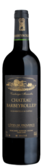 a black wine bottle of le noir et or, organic red wine of barbeyrolles vineyard, French